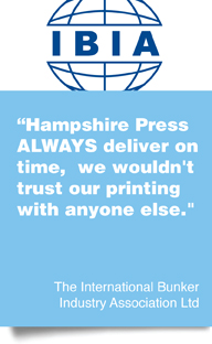 feedback about printing and design services from Hampshire Press in Southampton