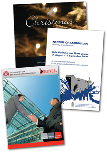 photo of brochures printed by Hampshire Press