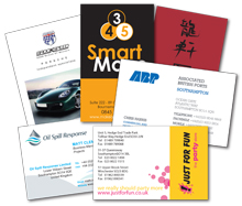 photo of business cards designed and printed by Hampshire Press