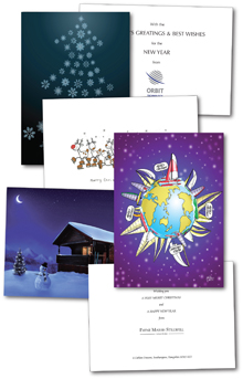 Christmas cards designed and printed by Hampshire Press