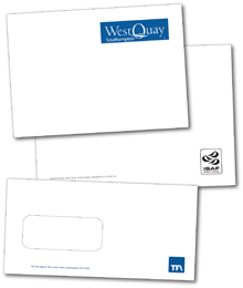 envelopes designed and printed by Hampshire Press