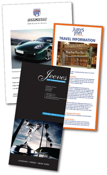 leaflets designed and printed by Hampshire Press
