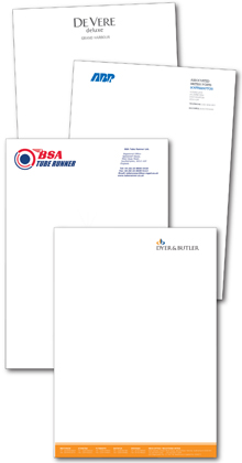 letterheads designed and printed by Hampshire Press
